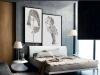 bedroom, drawing of Tilda Lovi