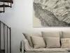 living-room, drawing of Tilda Lovi