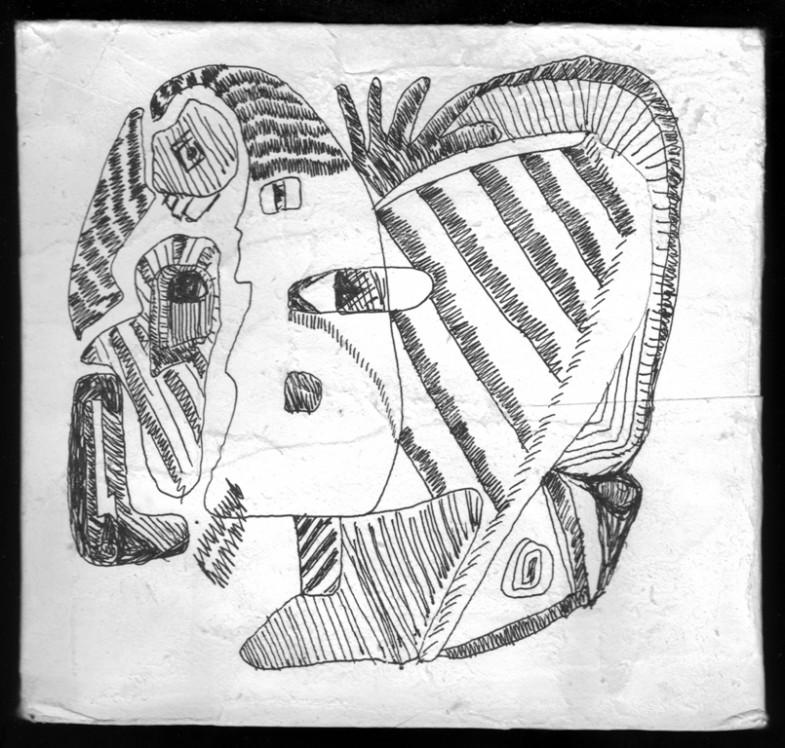 dessin sur papier maroufle